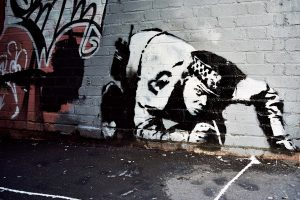 "Banksy, ""Snorting Copper"""
