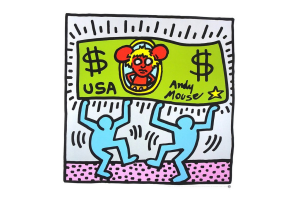 Keith Haring Andy Mouse